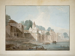 The city of Benares (U.P.) from Amrit Rao's Ghat to the Munshi Ghat. 22  November 1789.